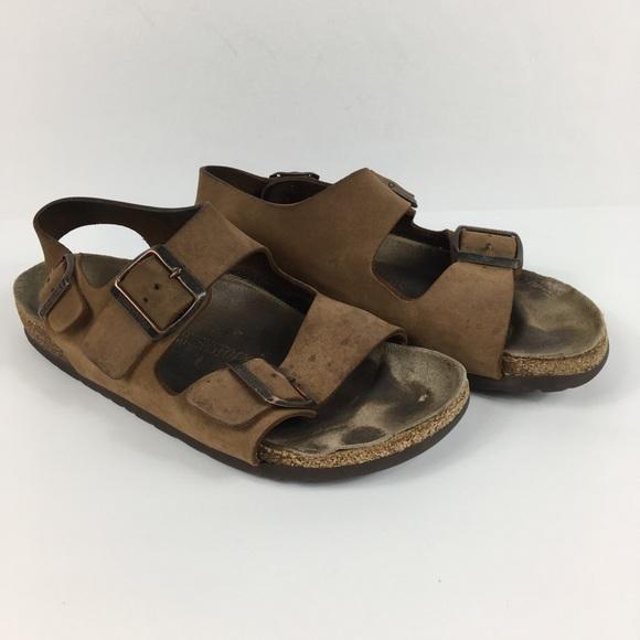 4da69def85c Birkenstock Shoes - Birkenstock Milano Brown Leather Sandals Size 7 38